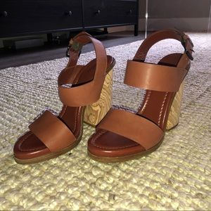 Vince. Haley Wooden Block Heels